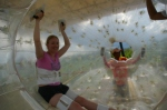 Stacey inside Zorb